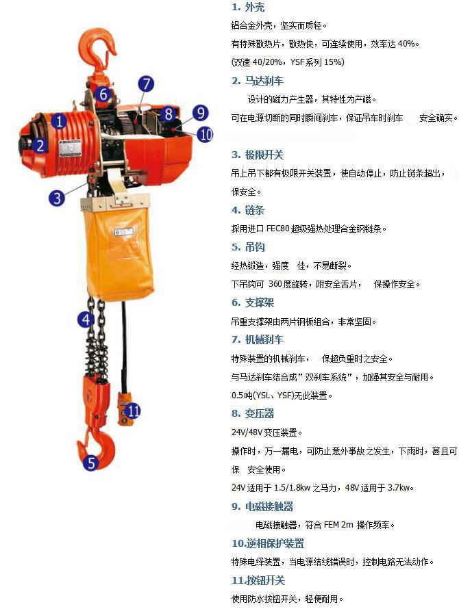 台湾黑熊电动葫芦链条式
